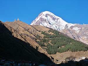 climbing mount Kazbek