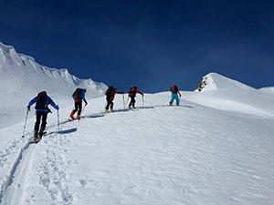 Ski touring on Ushguli