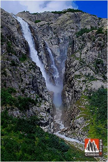 Ushba waterfall